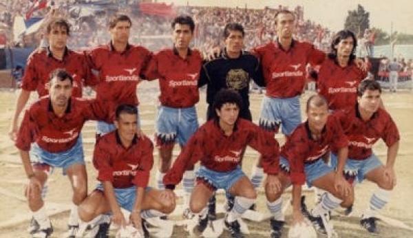 El equipo de Brown campeón del Torneo Clausura 1997 frente a San Martin de Burzaco (3-3) en Adrogué